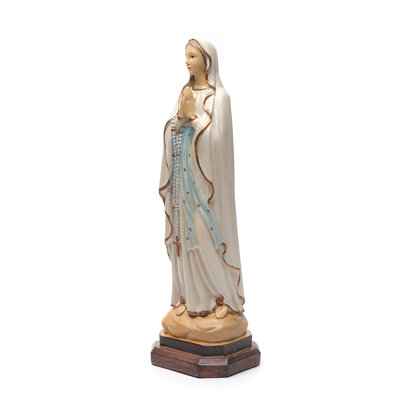 Our Lady of Lourdes statue in coloured resin 40 cm 4