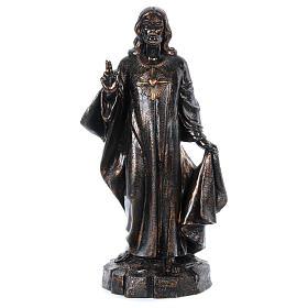 Statues en résine et PVC: STOCK Sacré-Coeur effet bronze 110 cm Fontanini