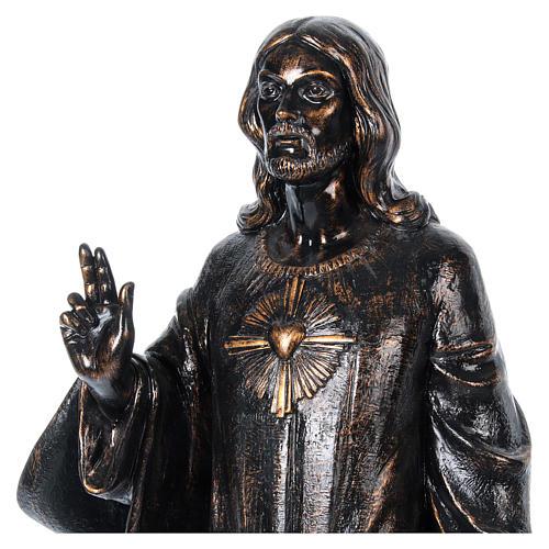 STOCK Sacro cuore bronzato 110 cm Fontanini 2