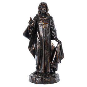 Imagens em Resina e PVC: STOCK Sagrado Coração bronzeado 110 cm Fontanini