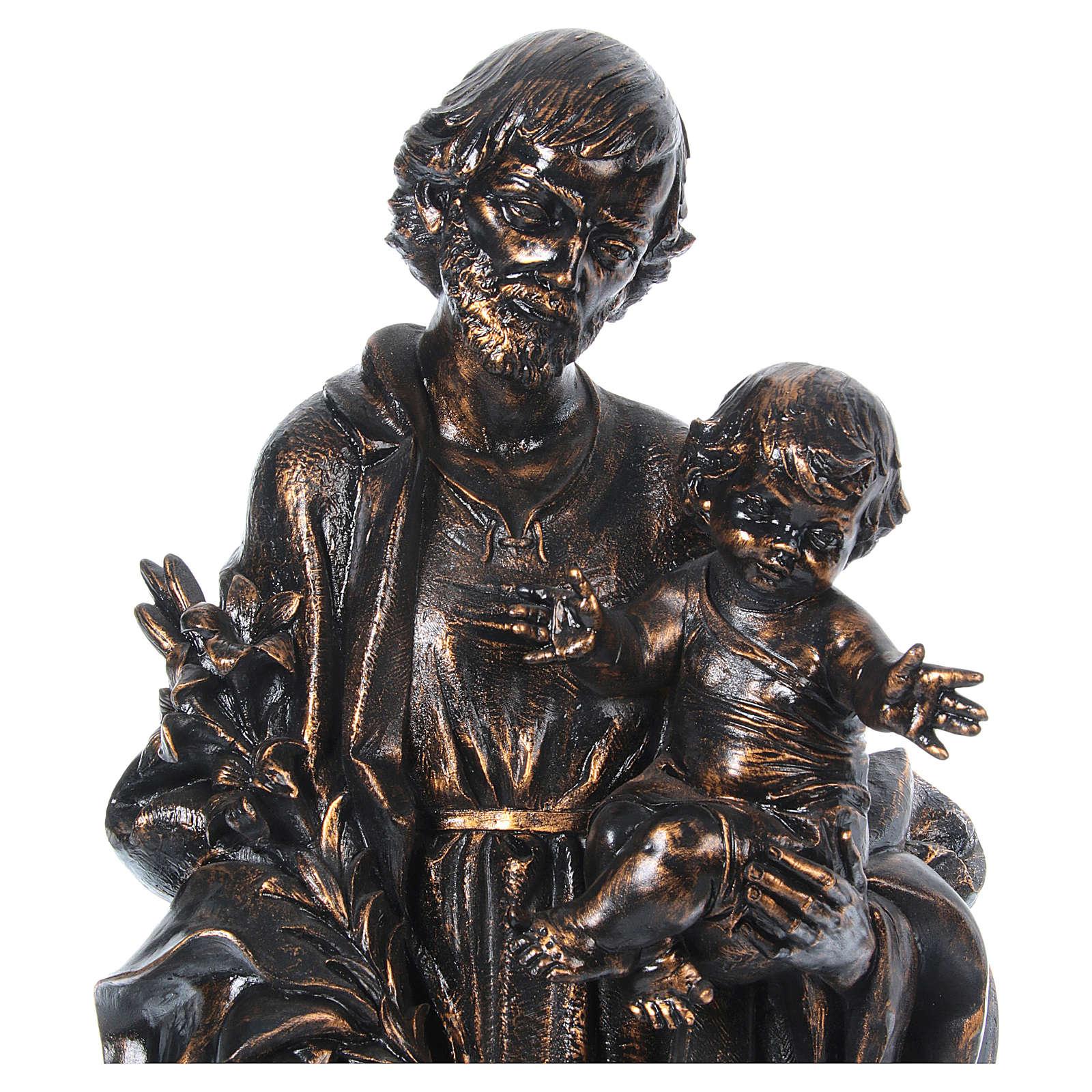 STOCK San Giuseppe bronzato 105 cm Fontanini 4