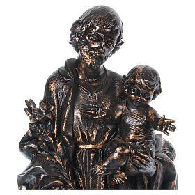 STOCK San Giuseppe bronzato 105 cm Fontanini s4
