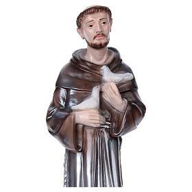 San Francesco d'Assisi gesso madreperlato 40 cm s2