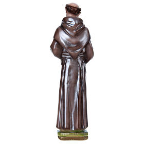 San Francesco d'Assisi gesso madreperlato 40 cm s4