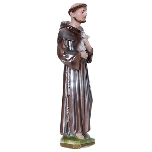 16 inch Saint Francis Of Assisi Statue plaster mother of pearl 3