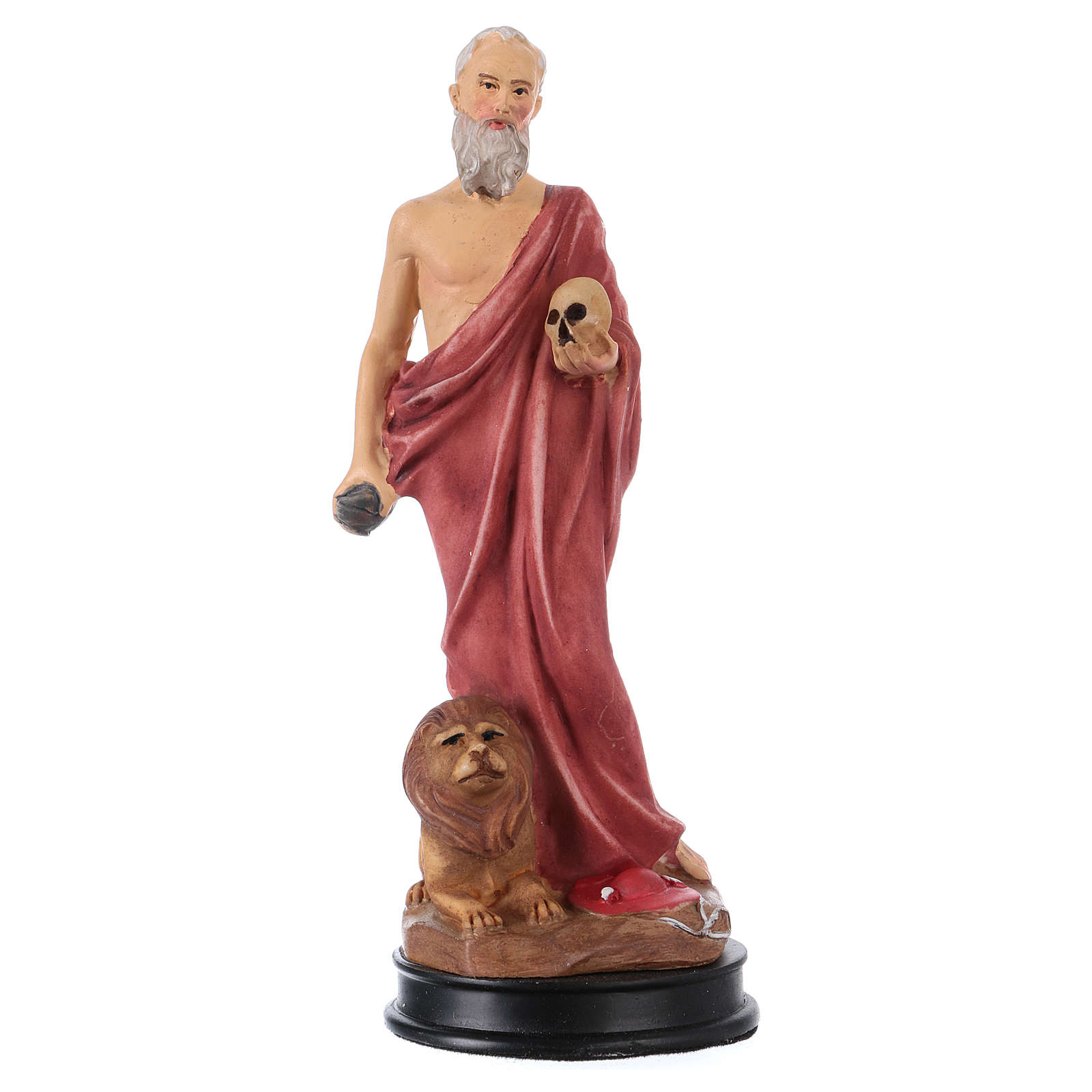 STOCK St Jerome statue in resin 13 cm 4