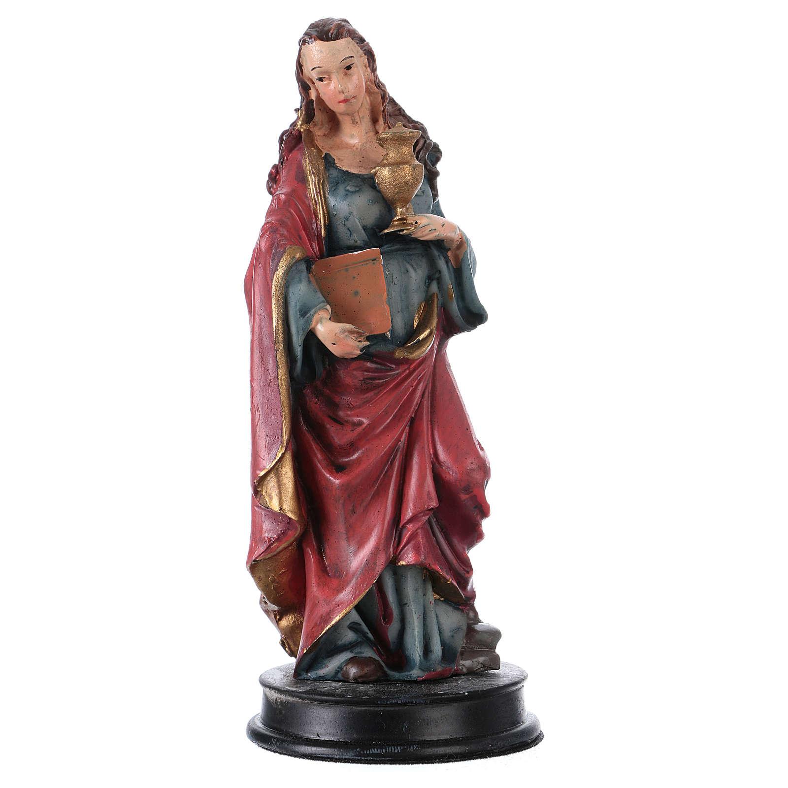 STOCK Statue résine Sainte Maie Madeleine 13 cm 4