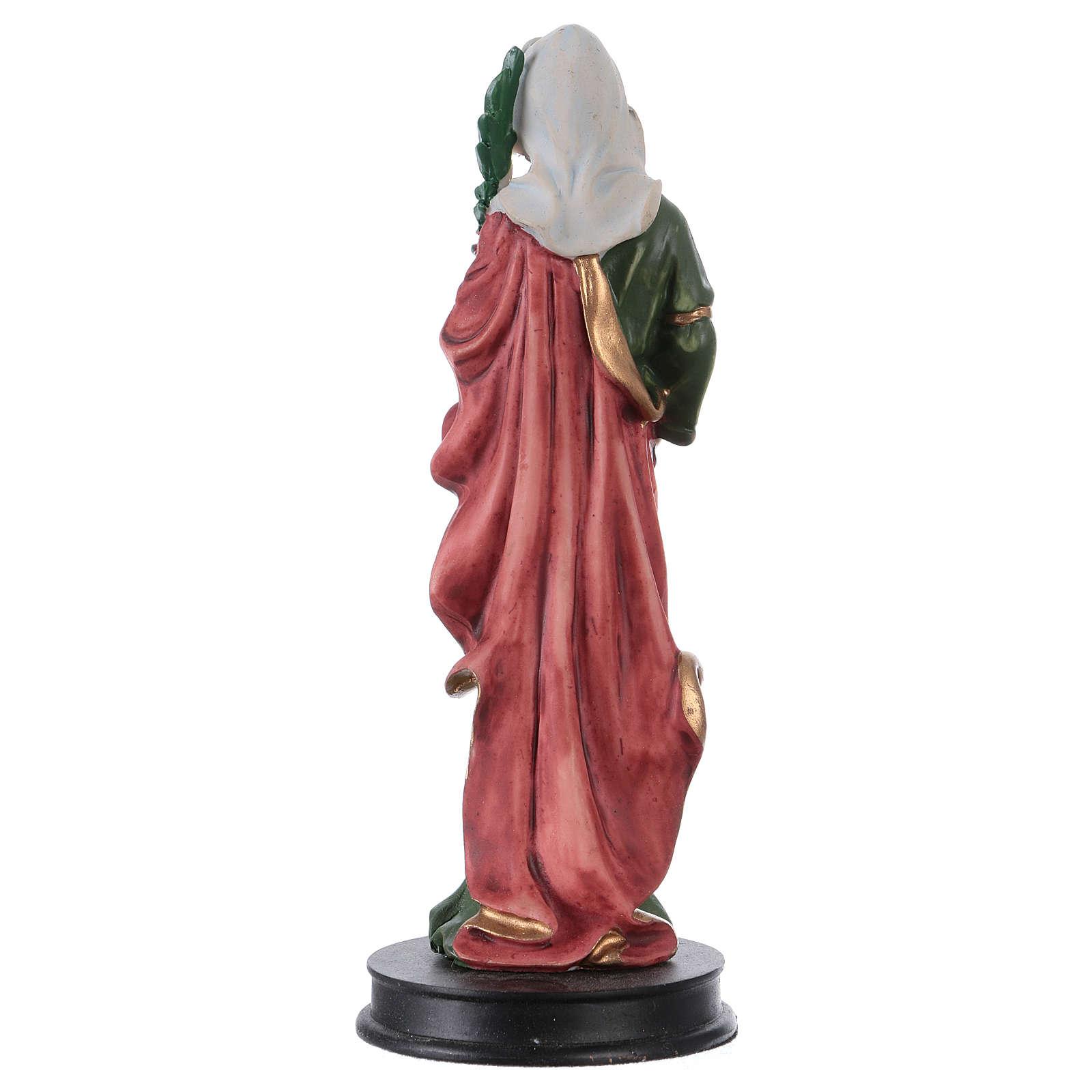 STOCK Heilige Apollonia Statue aus Kunstharz 13 cm 4