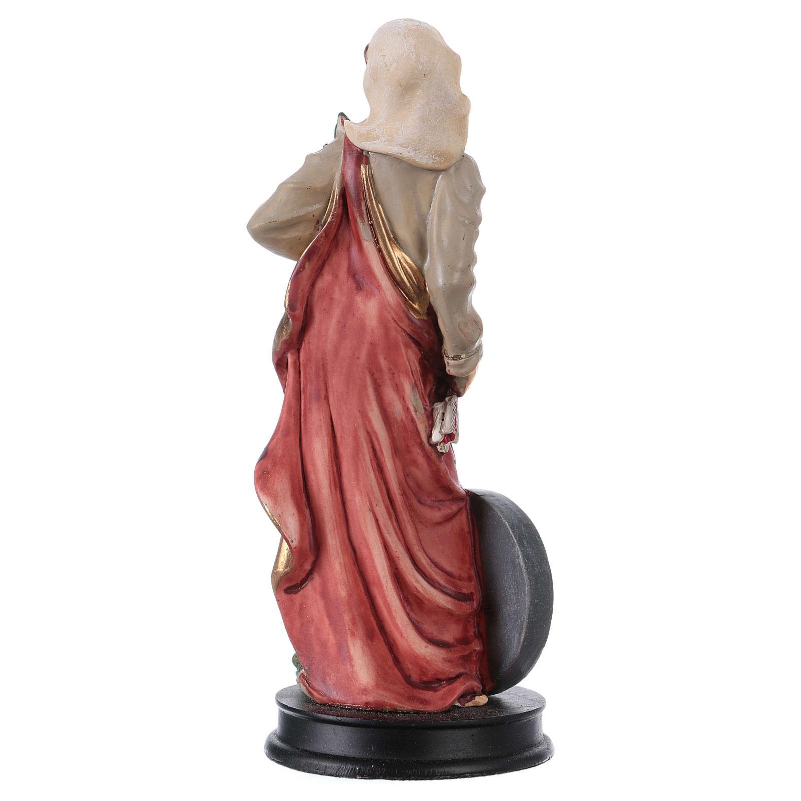 STOCK Statue résine Sainte Christine 13 cm 4