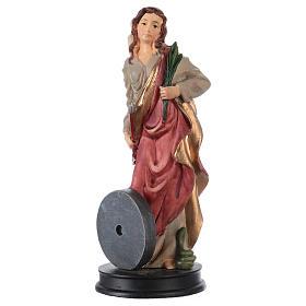 STOCK Statua resina Santa Cristina 13 cm s1