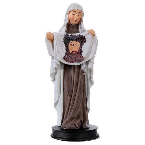 STOCK Statue Sainte Véronique résine 13 cm 1