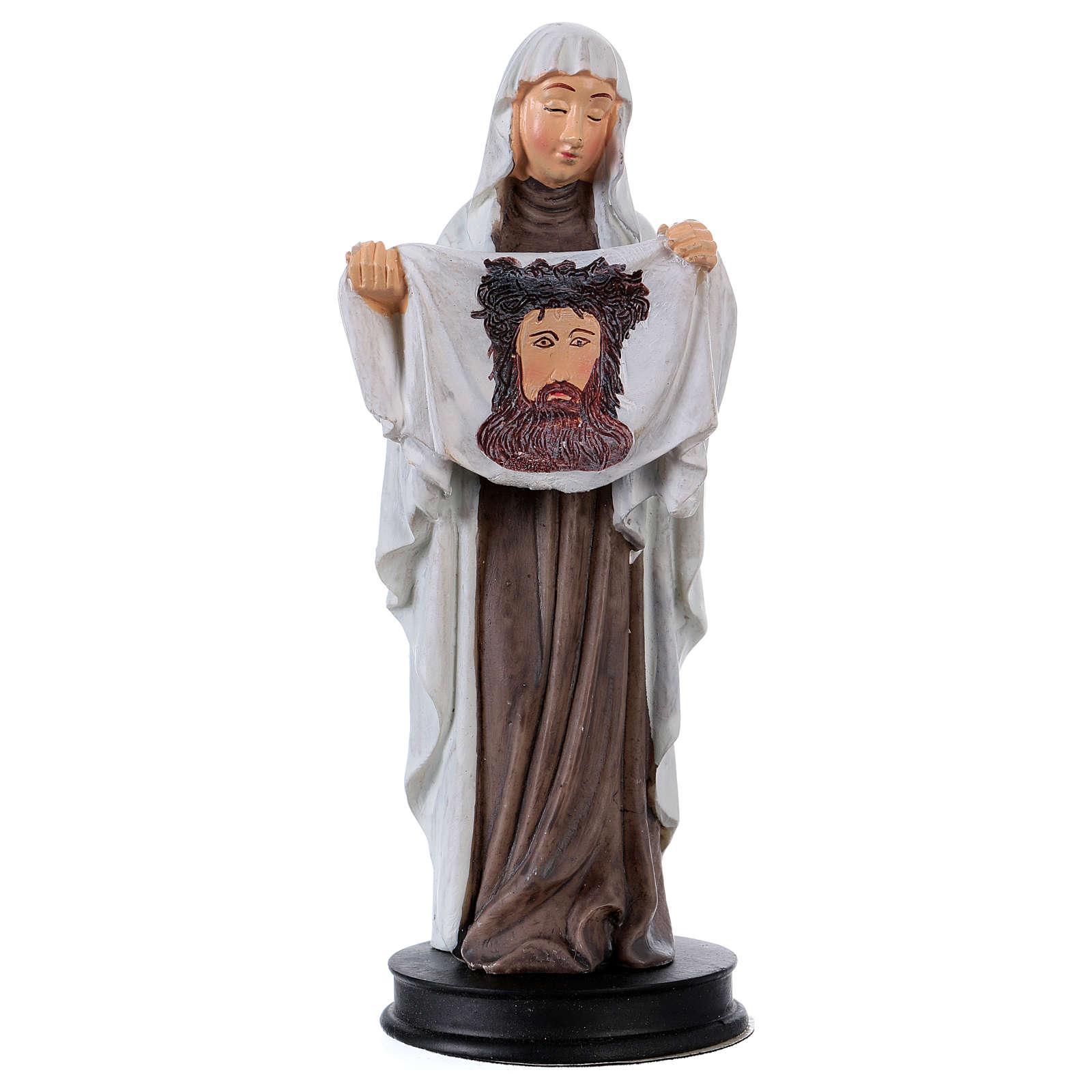 STOCK Statua resina Santa Veronica 13 cm 4