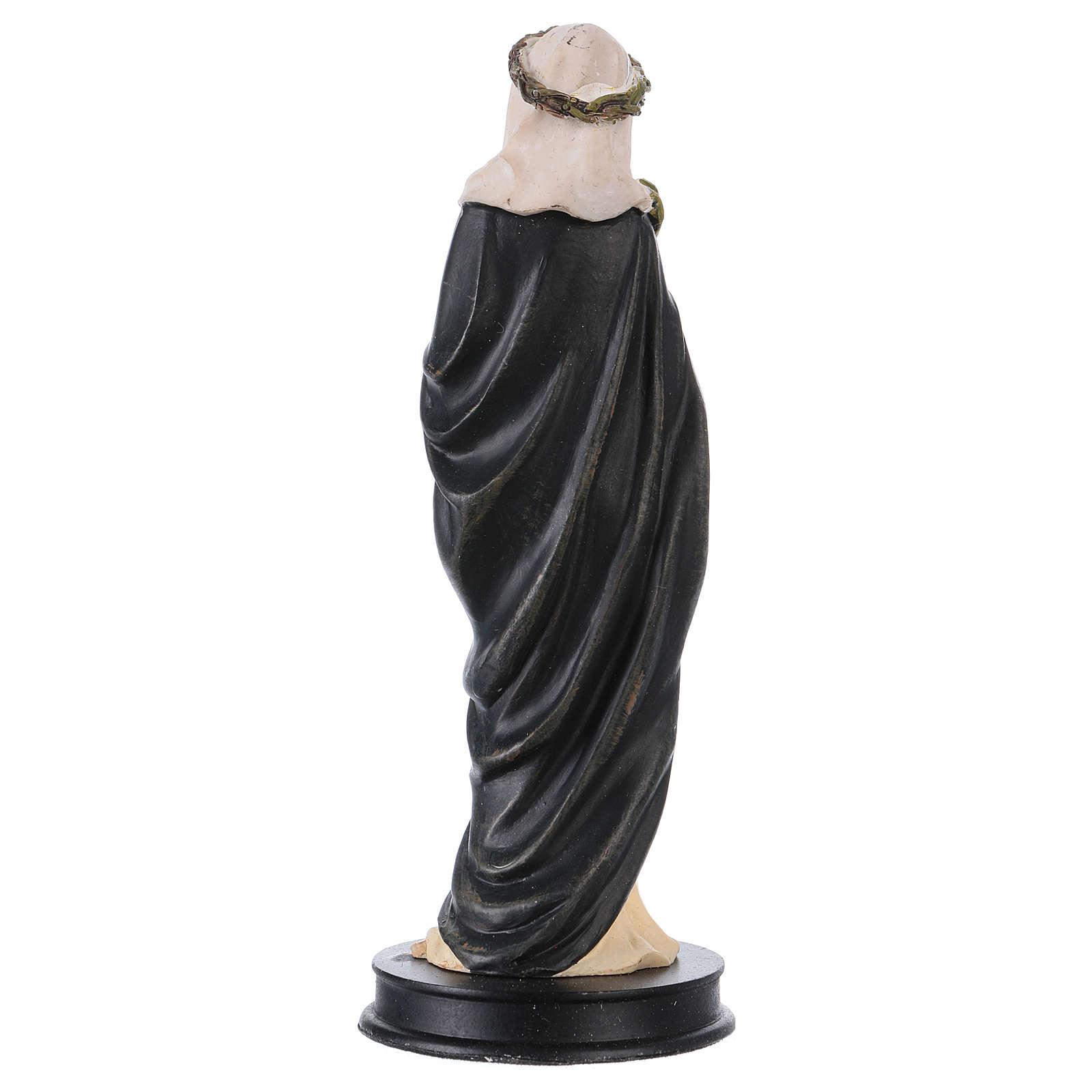 STOCK Statue Sainte Catherine de Sienne résine 13 cm 4