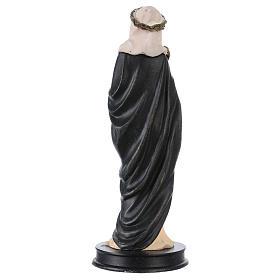 STOCK Statue Sainte Catherine de Sienne résine 13 cm s2