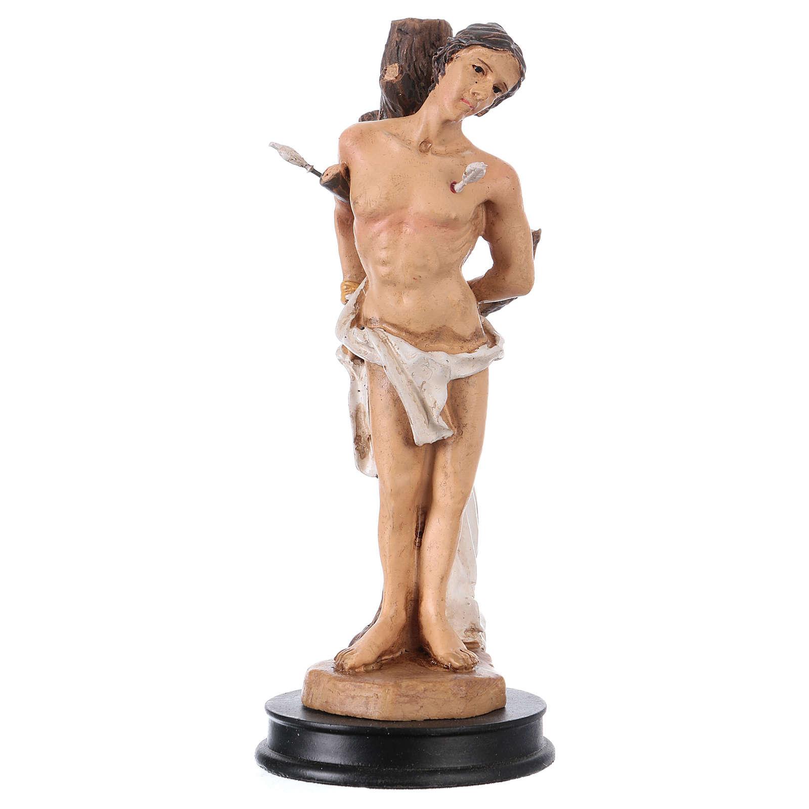 STOCK Statue résine Saint Sébastien 13 cm 4