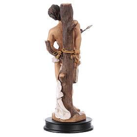 STOCK Statue résine Saint Sébastien 13 cm s2