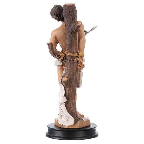 STOCK Statue résine Saint Sébastien 13 cm 2