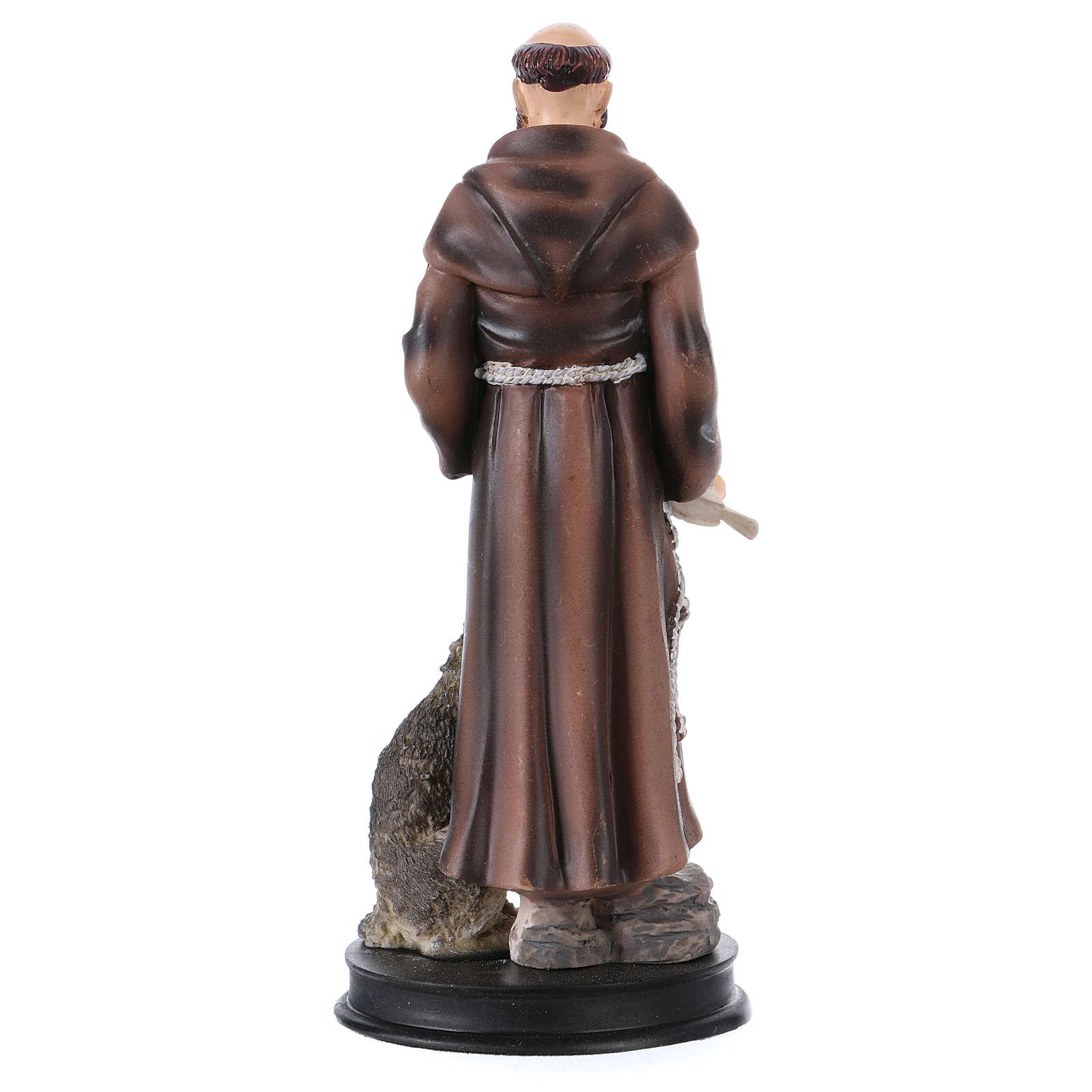 STOCK Statue résine Saint François d'Assise 13 cm 4