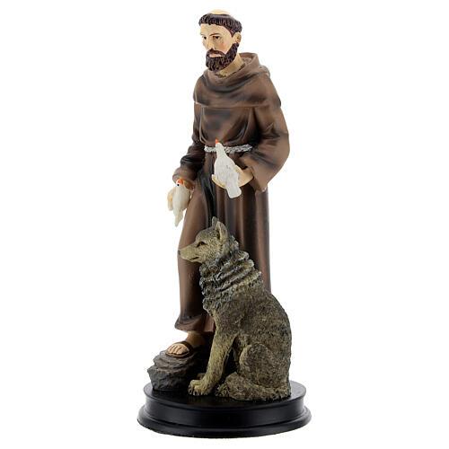STOCK Statue résine Saint François d'Assise 13 cm 2