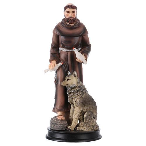 STOCK Figurka żywica Święty Franciszek z Asyżu 13 cm 1