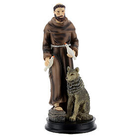 STOCK resin Saint Francis of Assisi statue 13 cm s1