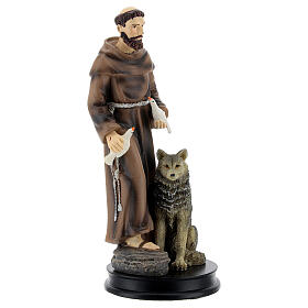 STOCK resin Saint Francis of Assisi statue 13 cm s3