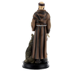 STOCK resin Saint Francis of Assisi statue 13 cm s4