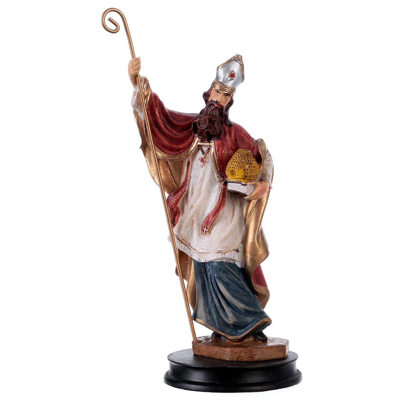 STOCK Statuette résine Saint Ambroise 13 cm 4