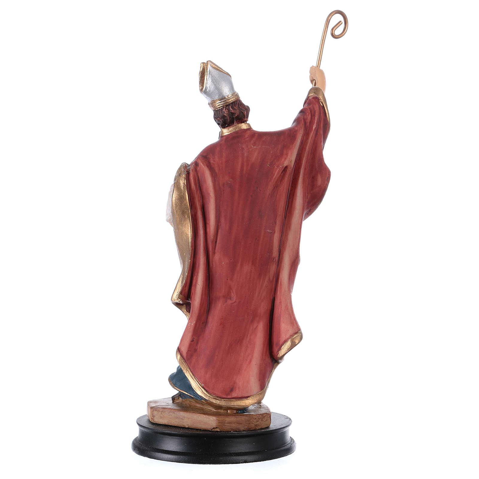 STOCK Figurka żywica Święty Ambroży 13 cm 4