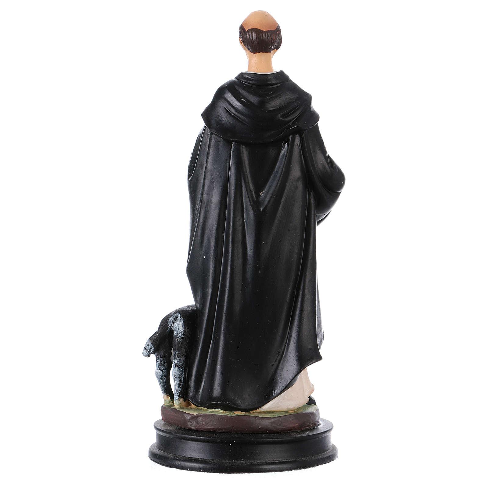 STOCK Statua resina San Domenico di Guzman 13 cm 4