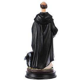 STOCK Statua resina San Domenico di Guzman 13 cm s2