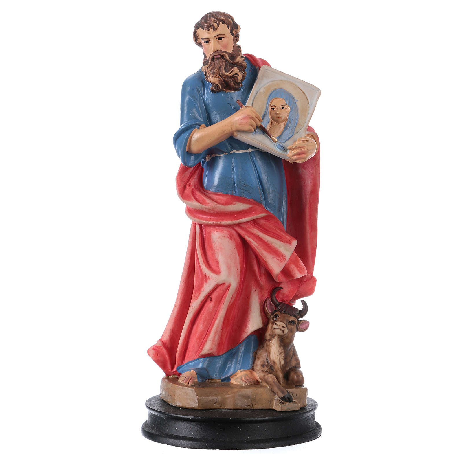 STOCK St Luke the evangelist statue in resin 13 cm 4