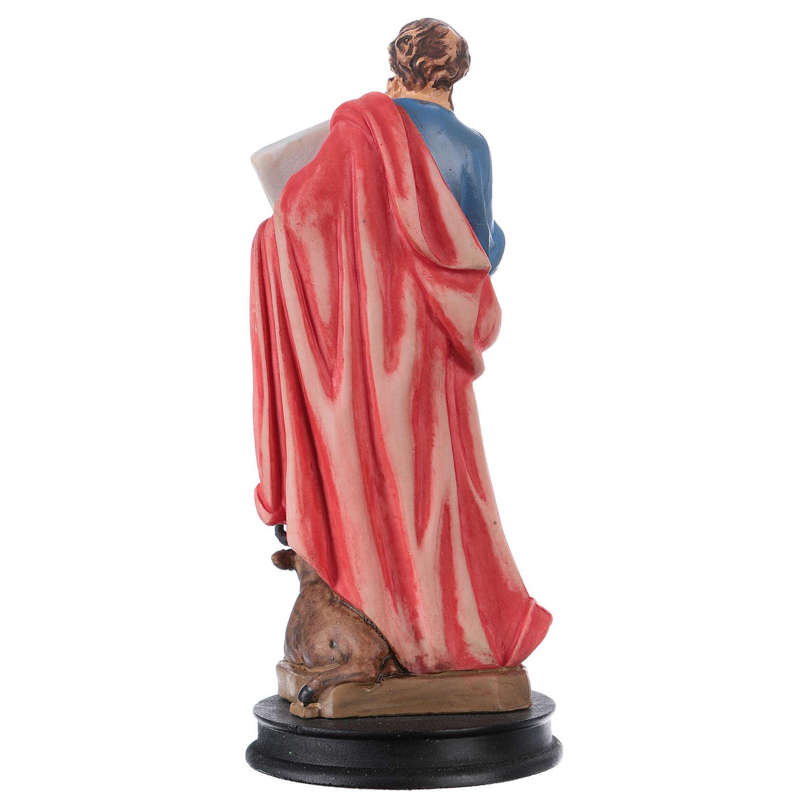 STOCK St Luke the evangelist statue in resin 13 cm 4