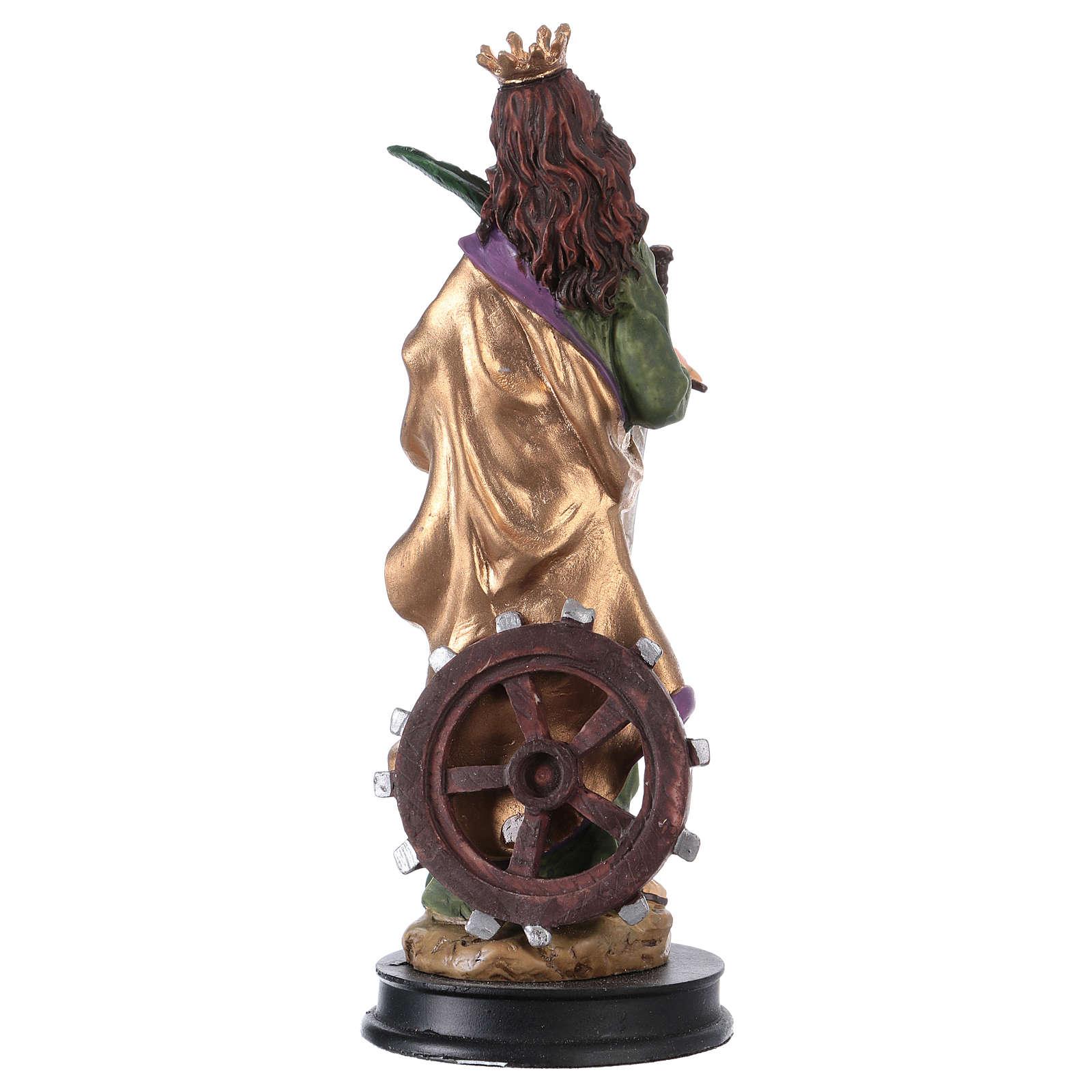 STOCK Statuette résine Sainte Catherine d'Alexandrie 13 cm 4