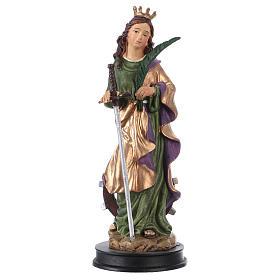 Statues en résine et PVC: STOCK Statuette résine Sainte Catherine d'Alexandrie 13 cm