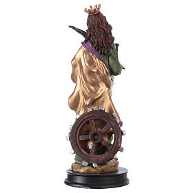 STOCK Statuette résine Sainte Catherine d'Alexandrie 13 cm s2