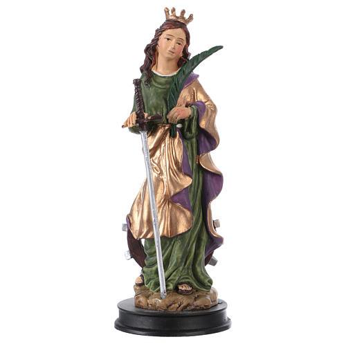 STOCK Statuette résine Sainte Catherine d'Alexandrie 13 cm 1