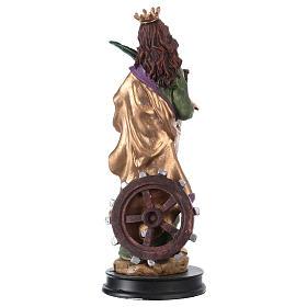 STOCK Figurka żywica Święta Katarzyna Aleksandryjska 13 cm s2