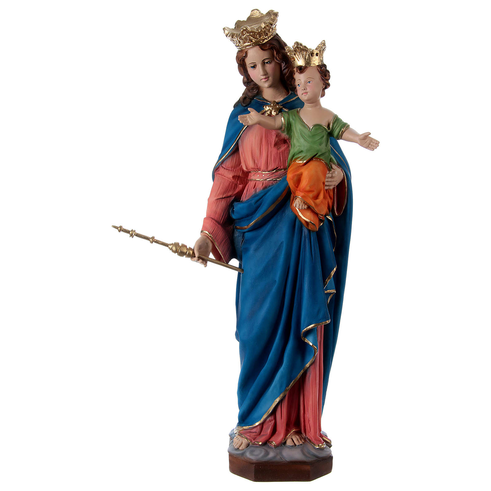 Our Lady of Help 60 cm in resin 4