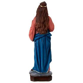 Santa Lucia 60 cm resina dipinta s5