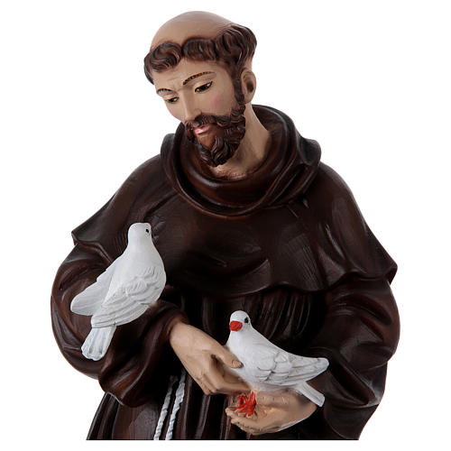 St Francis 60 cm in painted resin 2