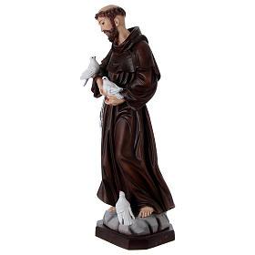 Saint François 60 cm en résine peinte s3