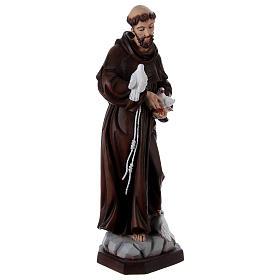Saint François 60 cm en résine peinte s4