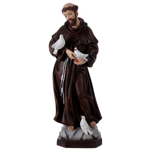 Saint François 60 cm en résine peinte 1