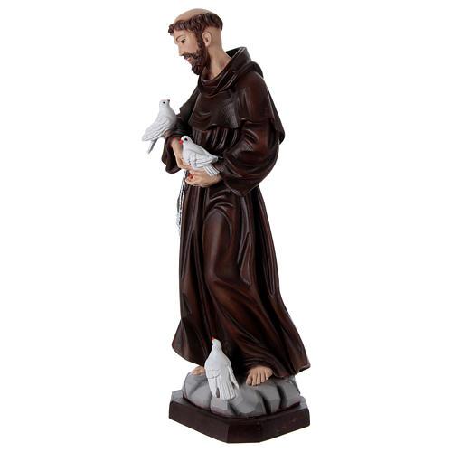 Saint François 60 cm en résine peinte 3