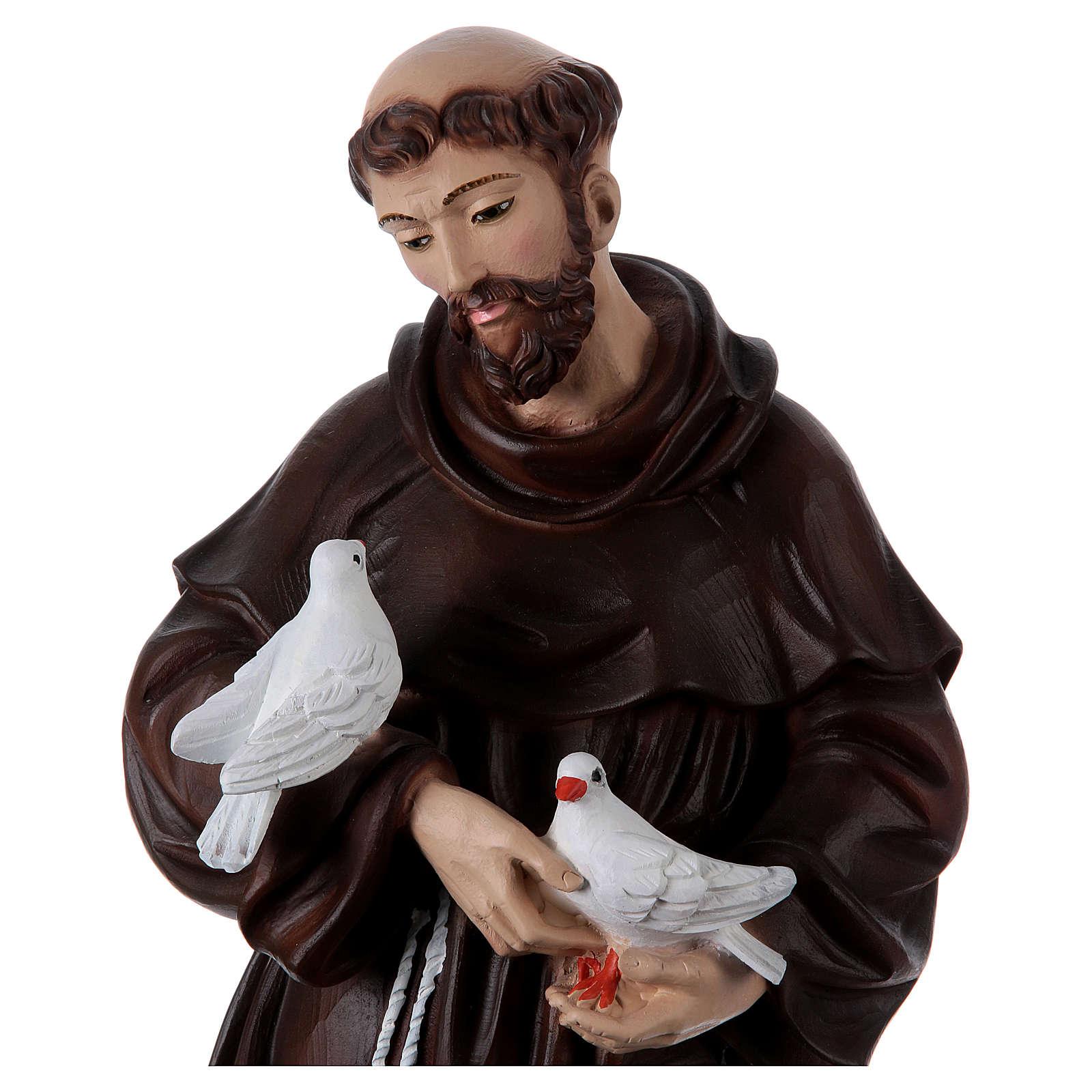 San Francesco 60 cm in resina dipinta 4