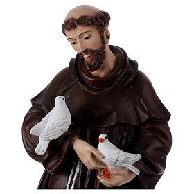 San Francesco 60 cm in resina dipinta