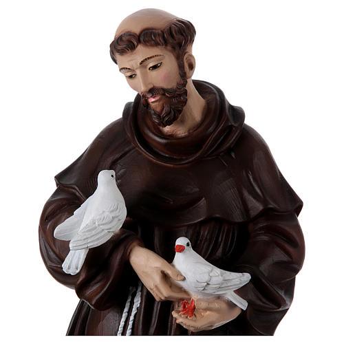 San Francesco 60 cm in resina dipinta 2