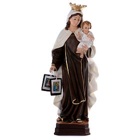 Our Lady of Mount Carmel statue in resin 70 cm s1