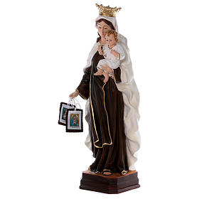 Our Lady of Mount Carmel statue in resin 70 cm s3